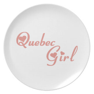 Quebec Girl Plate