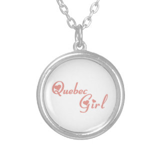 Quebec Girl Silver Plated Necklace