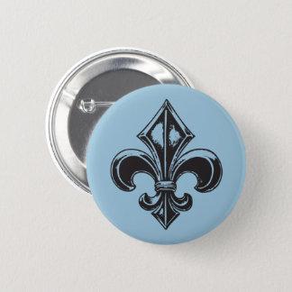 Québec  goth fleur de lys français VOS COULEURS 2 Inch Round Button