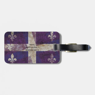 Quebec grunge flag - luggage tag
