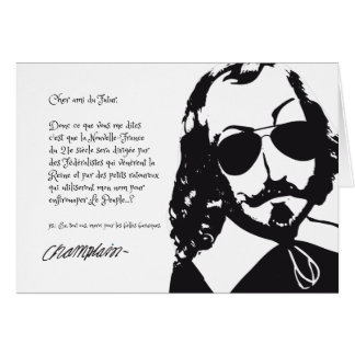 Quebec Hipster Samuel Champlain 1608 COLOR CHOICES Card
