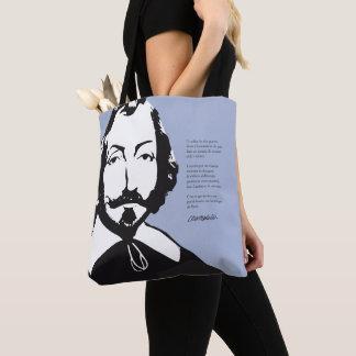 Quebec Hipster Samuel Champlain 1608 COLOR CHOICES Tote Bag