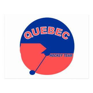 Quebec Hockey Team Postcard