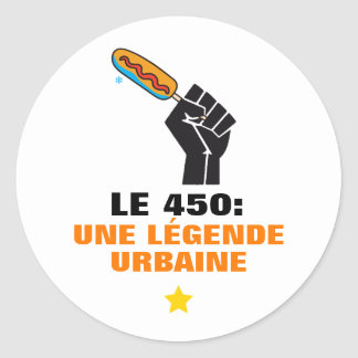 Quebec humour 450 captions urban middle-class man classic round sticker