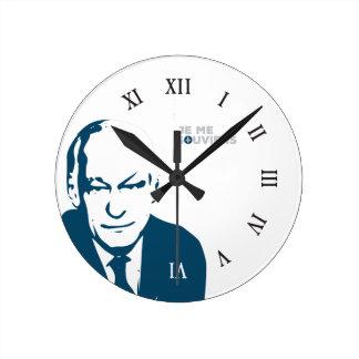 Québec je me souviens René Lévesque Français Round Clock