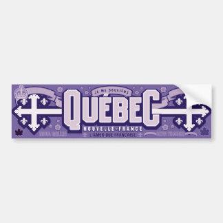 Québec. La Nouvelle-France Autocollant De Voiture