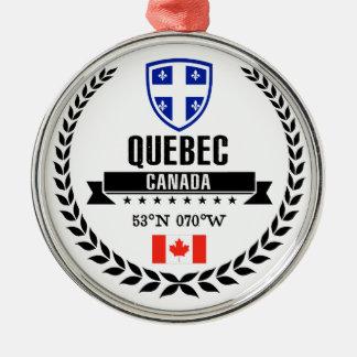 Quebec Metal Ornament