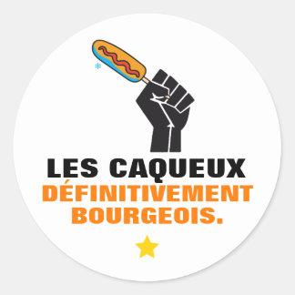 Quebec middle-class humour CAQUEUX satire Classic Round Sticker