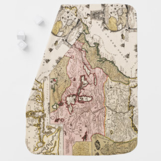 Quebec/Nouvelle-France medieval french map America Baby Blanket
