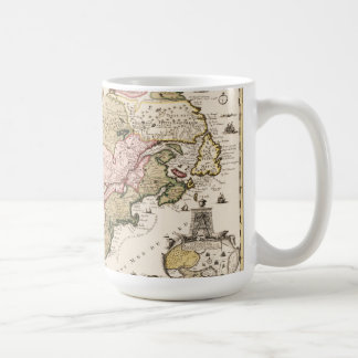 Quebec/Nouvelle-France medieval french map America Coffee Mug