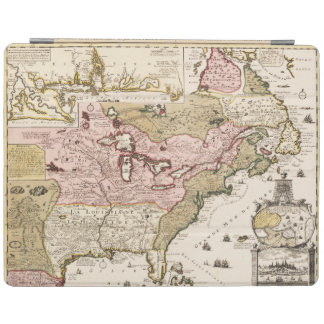 Quebec/Nouvelle-France medieval french map America iPad Cover