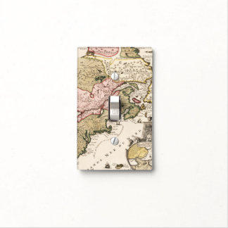 Quebec/Nouvelle-France medieval french map America Light Switch Cover
