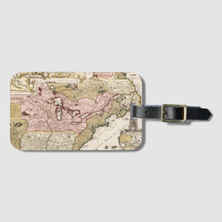Quebec/Nouvelle-France medieval french map America Luggage Tag
