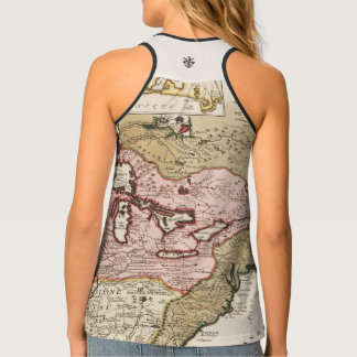 Quebec/Nouvelle-France medieval french map America Tank Top