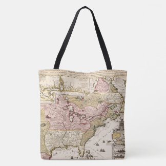 Quebec/Nouvelle-France medieval french map America Tote Bag
