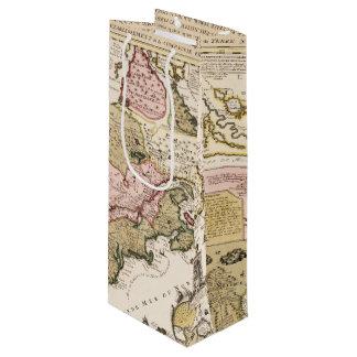 Quebec/Nouvelle-France medieval french map America Wine Gift Bag