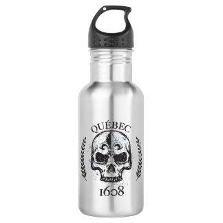 Quebec patriot 1608 grunge metal Referendum YES 532 Ml Water Bottle