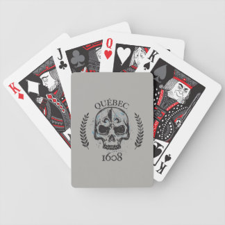 Quebec patriot 1608 grunge metal Referendum YES Bicycle Playing Cards
