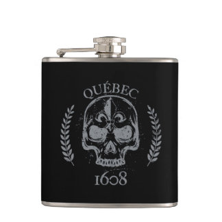 Quebec patriot 1608 grunge metal Referendum YES Hip Flask