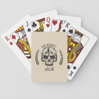 Quebec patriot 1608 grunge metal Referendum YES Playing Cards