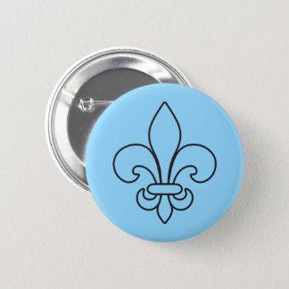 Québec patriote fleur de lys français VOS COULEURS 2 Inch Round Button