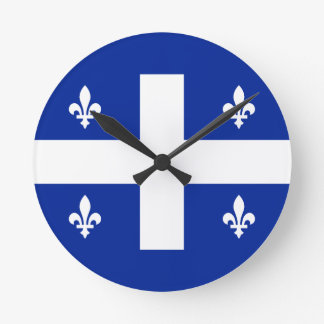 quebec round clock