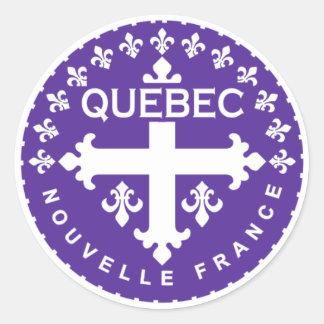 Québec Round Sticker