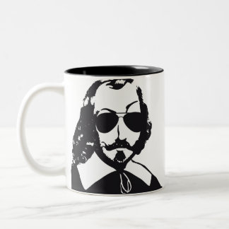 Quebec Samuel Champlain Hipster glasses aviator Two-Tone Coffee Mug