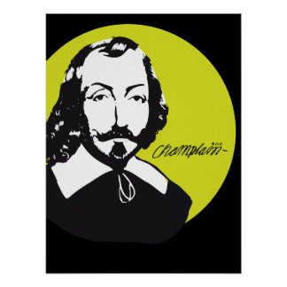 Quebec Samuel de Champlain 1608 News-France Poster