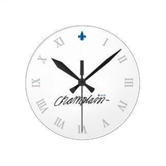 Québec Samuel de Champlain 1608 Signature Français Round Clock