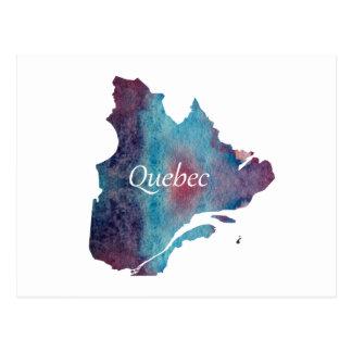 Quebec silhouette postcard