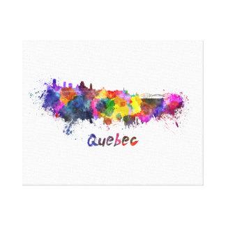 Quebec skyline in watercolor canvas print