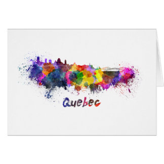 Quebec skyline in watercolor card