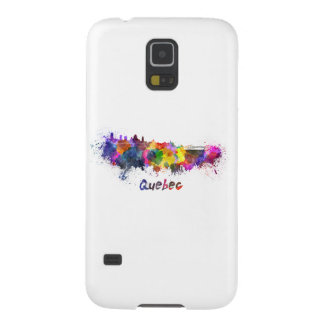 Quebec skyline in watercolor galaxy s5 covers