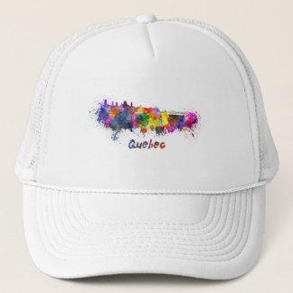 Quebec skyline in watercolor trucker hat