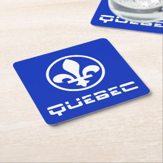 Quebec Square Paper Coaster