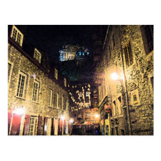 Quebec street postcard