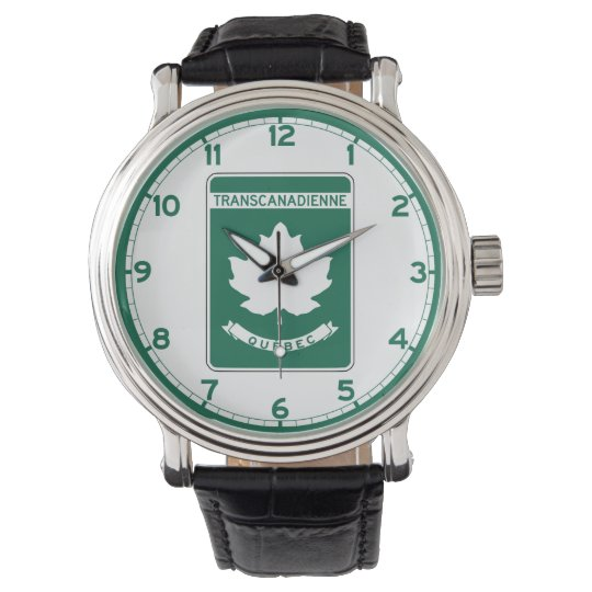 Quebec, Trans-Canada Highway Sign Wrist Watch