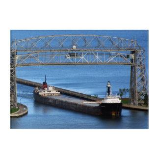Quebecois & Duluth Aerial Lift Bridge acrylic art