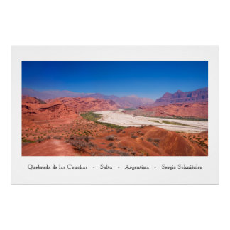 Quebrada de las Conchas - Salta - Argentina Poster