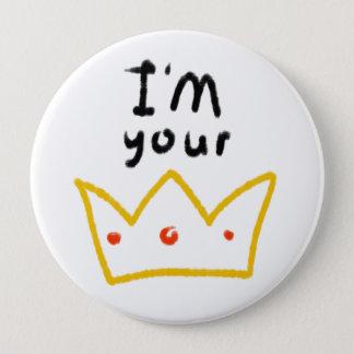 Queen 4 Inch Round Button