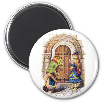 QUEEN ALICE AND THE FROG AT THE CASTLE DOOR MAGNET