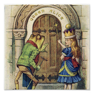 Queen Alice and the Frog Poster