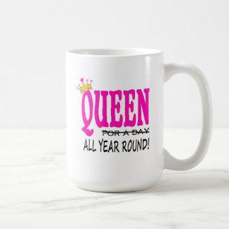"""queen all year round"" mug"
