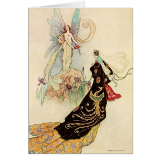 Queen and Butterfly Fairy, Card