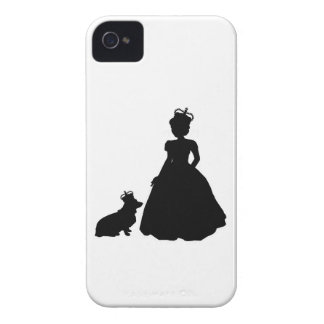 Queen and Corgi Iphone 4 case