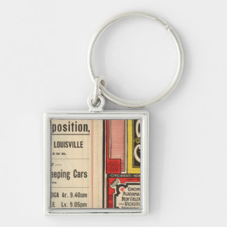 Queen and Crescent Route Silver-Colored Square Keychain