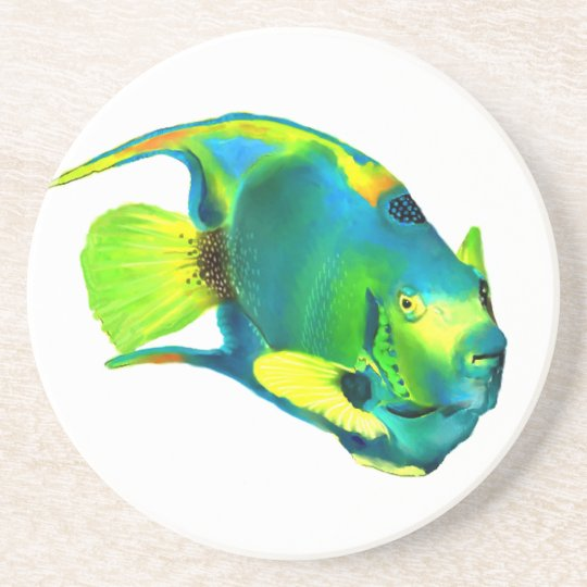 Queen Angelfish Coaster