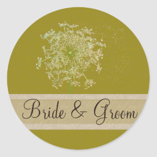 Queen Anne Lace Wedding Seal