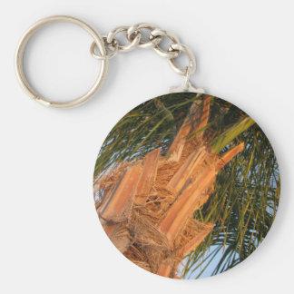 Queen Anne Palm Tree Basic Round Button Keychain